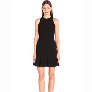 Theory Felicitina Ruffle Mini Fitted Flare Dress